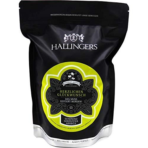 Hallingers Gourmet-Kaffee, schonend langzeit-geröstet (500g) - Herzlichen Glückwunsch (Aromabeutel) - zu Geburtstag & Glückwunsch
