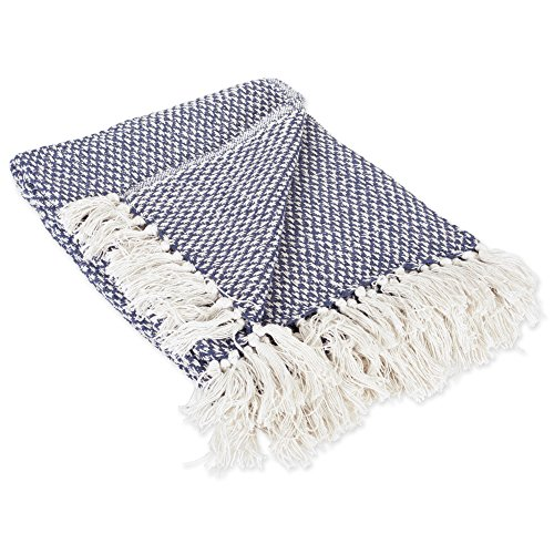 DII Transitional Woven Throw, 50x60, Nautical Blue