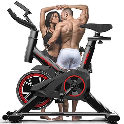 Allenatore da Allenamento F-Bike per Casa con Monitor LCD Sensori di Impulsi Manuali, Bicicletta da Spinning per Esercizi Indoor Cicli da Studio Indoor Allenamento Aerobico Professionale Regolabile