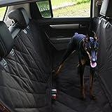 Autoschondecke für Hunde Rückbank Sitzbezug Auto / kofferraumschutzdecke mit Seitenschutz für Hund / Rücksitzbezug Comfort / Schwarz Wasserdicht / Für Auto SUV