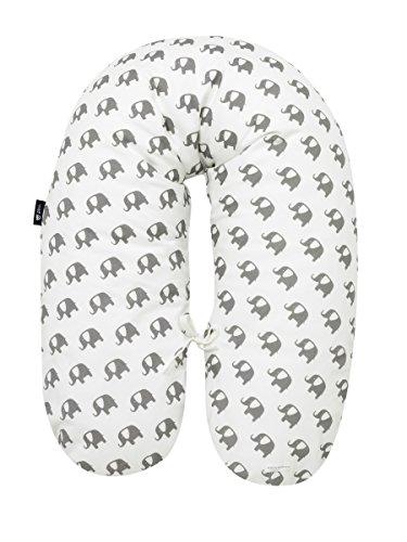 Alvi Stillkissen Special Edition Elephants white 190 cm 705-0