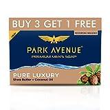 Park Avenue Premium Men's Soap, Shea Butter+ Coconut Oil, 125g (BUY 3 GET 1)