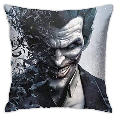 songyang The Joker - Fundas de almohada decorativas de algodón para salón, sofá, cama, fundas de almohada suaves, 45 x 45 cm