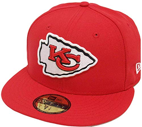 New Era Kansas City Chiefs Solid Red On Field NFL Cap 59fifty 5950 Fitted Limited Edition