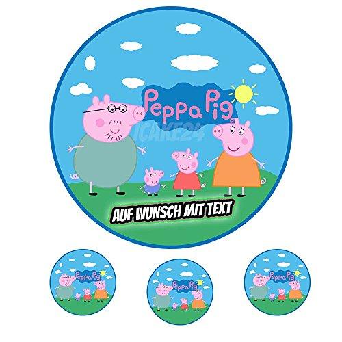Tortenaufleger Geburtstag Tortenbild Zuckerbild Oblate Motiv: Peppa Pig 01 (Oblatenpapier)