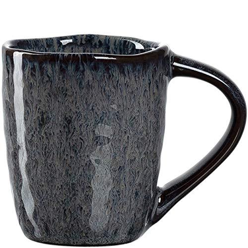 Leonardo Matera Espresso-Tasse 1 Stück, spülmaschinengeeignetes Espresso-Glas, 1 Mokka-Becher aus Steingut, Keramik-Tasse, grau 90 ml, 018594