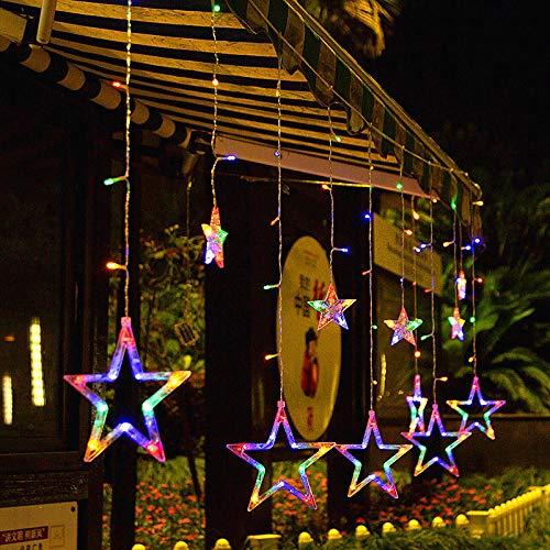 CJKBD LED Star Lights Lanterna Decorazione da giardino Impermeabile da esterno 3,5M-Plug-in doppio uso - colore