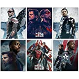 Falcon and The Winter Soldier Posters (Set of six - 8x10) Mini Series Wall Art Prints Bucky Barnes US Agent Karli Sharon Carter Zemo Captain America