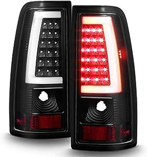 For 99-06 GMC Sierra / 99-02 Chevy Silverado Pick Up Truck Black Bezel LED Tube Tail Brake Lights Lamp