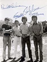 The Beatles early band signed reprint photo All 4#2 John Lennon