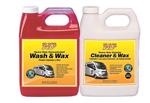 TR Industries Gel-Gloss CWWW-3232 Wash N Wax RV Cleaner Detailers Dream Value, 2 Pack, 32 oz. Each, 32. Fluid_Ounces