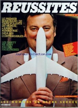 REUSSITES [No 1] du 01/10/1980 - LE PREMIER MARCHAND DE TAPIS DE VOLANTS DU MONDE - AIRBUS REMBOURSE DEJA LES CONTRIBUABLES - LES DARTY NE SONT PAS DES FAUX FRERES - PHILIPPE BOUVARD - LES ARTICLES DE A. BERCOFF - A. CASTELOT - PH. COUDERC - G. FARKAS - A. HALIMI - M. JULLIAN - PH. LABRO - YVAN LEVAI - DR PRADAL ET G. DE VILLIERS