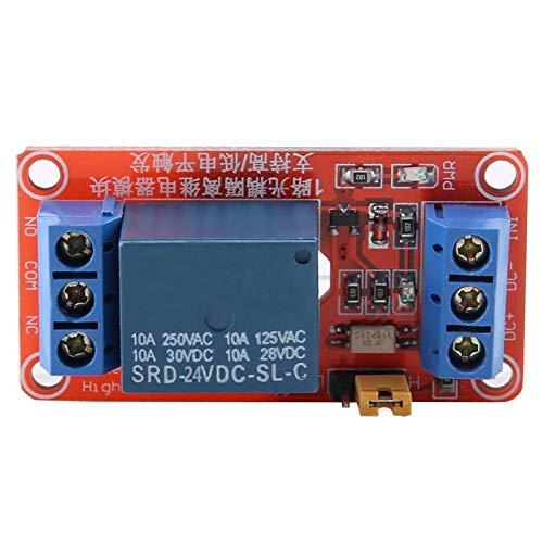 Tablero del módulo de relé optoacoplador, módulo de disparo alto y bajo del módulo de relé 5V / 12V / 24V para Arduino(24V)