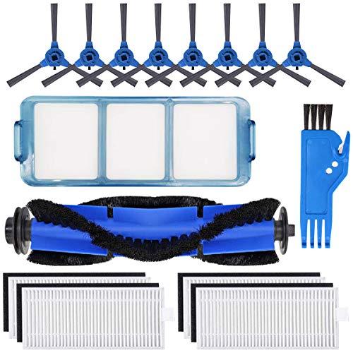 BluePower Zubehör für Eufy RoboVac 11S RoboVac 30 RoboVac 30C RoboVac 15C Saugroboter Ersatzteile 1 Rollbürste, 8 Seitenbürste,1 Primärfilter, 4 Filter