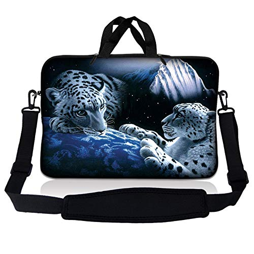 LSS 17 inch Laptop Sleeve Bag Carrying Case Pouch w/Handle & Adjustable Shoulder Strap for 17.4' 17.3' 17' 16' Apple Macbook, GW, Acer, Asus, Dell, Hp, Sony, Toshiba, Mountain Lions