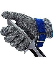 CPTDCL Level 9 odporna na przecięcie rękawica ze stali nierdzewnej siatka metalowa druciana rękawica trwała odporna na rdzę rzeźnik rękawica kuchenna ochrona cięcia
