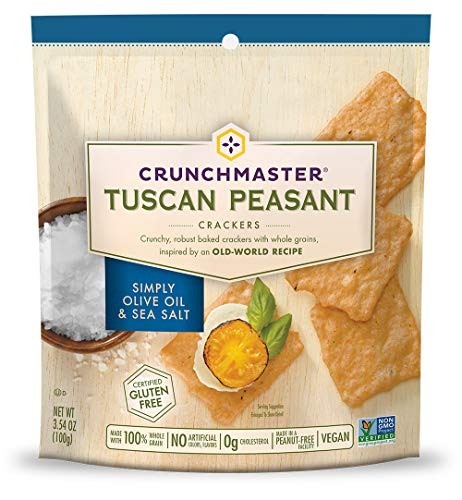 Crunchmaster Tuscan Peasant Crackers, Simply Olive Oil & Sea Salt, 0.29 Pound
