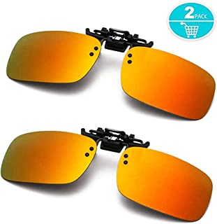 Polarized Clip-on Sunglasses Anti-Glare Driving Glasses...
