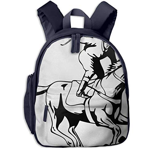 Kinderrucksack Kleinkind Jungen Mädchen Kindergartentasche Pferdesport 49 Backpack Schultasche Rucksack