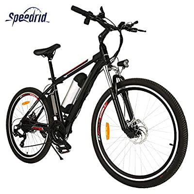 Speedrid 26 Electric Bike for Adults, Electric Mountain Bike/Electric Commuting Bike with 36V 8Ah Battery, and Professional 21 Speed Gears
