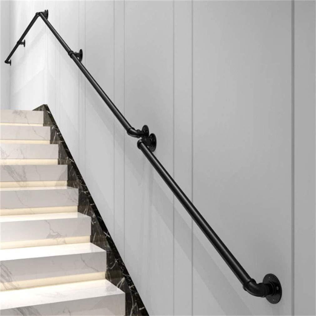 GJIF Pasamanos De Hierro Forjado Negro, Pasamanos para Escaleras, Barandilla De Escalera Antideslizante, Interior Y Exterior Pasamanos(Size:250cm): Amazon.es: Hogar