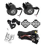 Faros Auxiliares de Moto Lámparas 40W Lámparas de Conducción de Haz Puntual Faros Largo Alcance para Universales Adecuado para Enduro Moto R1200GS F800GS F850GS R1250GS G310GS F650GS F700GS F750GS