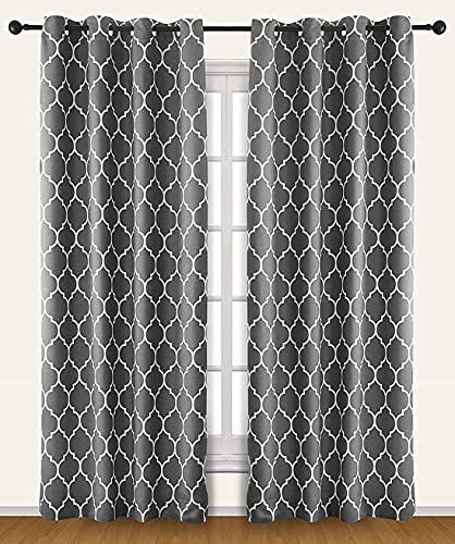 Utopia Bedding Printed Blackout Room Darkening Grommet Curtain (52