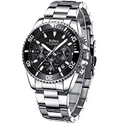 ★watches for men Perfect gift★: This versatile watch blend goes with every occasion be it formal or casual. Wear this watch on the go, from business, leisure to indoor and outdoor activities or for daily use. The BIDEN wrist watch is a perfect gift f...