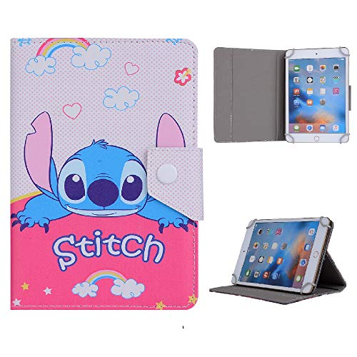 Boys Favorite Heores Character Tablet Kids Case For Universal 7 8 9.7 10 10.1 inch Case 7' 8' 9.7' 10' 10.1' inch (Universal 8' (8' Inch), Stitch)