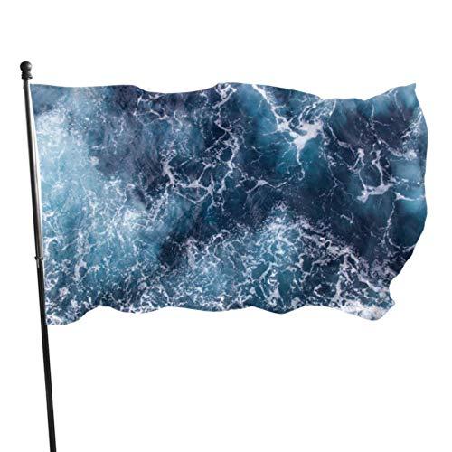 Design Blue Waves Party Decorations Drapeaux Drapeaux Décorés 3x5 Pieds Couleurs Vibrantes Qualité Polyester Et Oeillets en Laiton