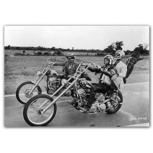 NFGGRF Easy Rider clásico póster de película e Impresiones Lienzo Pintura Pared Arte impresión Papel Tapiz para imágenes decoración de Sala de Estar -60x90cm sin Marco