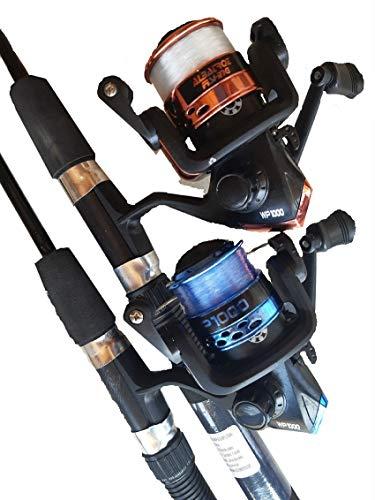 Kit Pesca Especial 2 Molinetes 1000 com linha + 2 Varas 1,35 M
