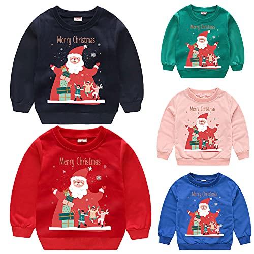 Kinder-Kleidung Baby Jungen Mädchen Weihnachten Mode Sweatshirt Hoodie Cartoon Kapuzenpullover Kapuze Cartoon-Druck Fleece Hoodie Kinder Winter Warm Pullover Langarmshirt Baumwolle