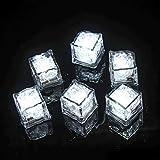 (Paquete de 12) Led Ice Cube Enter Liquid se ilumina automáticamente en blanco, Lámpara LED a prueba de agua, Para cubo de hielo o Torre de champán, Aplicar a Bar, Club, Boda, Fiesta familiar