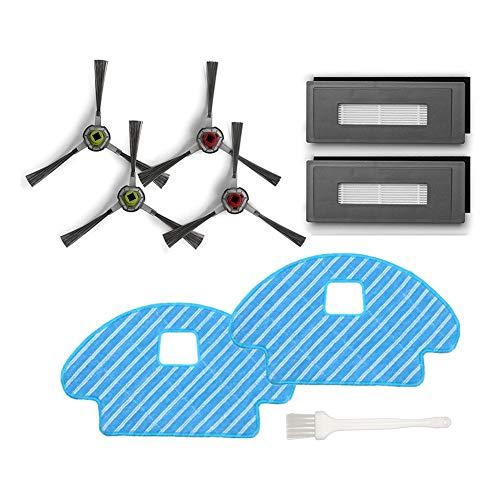 Ersatzteile für Ecovacs Deebot Ozmo 930 Zubehör für Robotics DG3G-KTA Buddy, 4 Seitenbürsten 2 Filter Hepa 2 Reinigungstücher 1 Reinigungsbürste, 9 Stück
