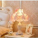 FHUA Lámpara Escritorio Lámpara Estilo Europeo Moda Lujo Sala de Estar Dormitorio Estudio gu Hua Resina Arte Retro Arte Creativo Noche lámpara/lámpara de Mesa/Noche luz
