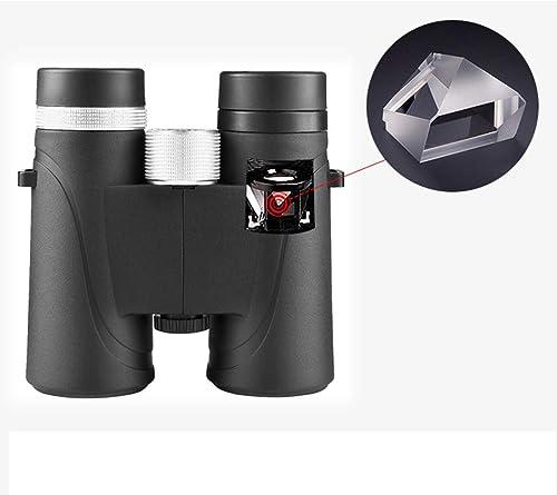 Xasclnis Jumelles 42x pour Adultes - Optique HD Telics BAK4 Prism FMC - Compact binoculaire Professionnel pour Les Sports de Plein air Observation des Oiseaux, étanche au Brouillard (Lens   10x42)