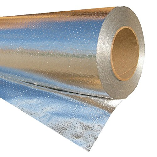 RadiantGUARD Ultima Radiant Barrier Industrial Grade 500 sq ft roll | 48-inch by 125-feet | U-500-B | Perforated Breathable Aluminum Attic Foil House Wrap Reflective Insulation – Blocks 97% of Heat