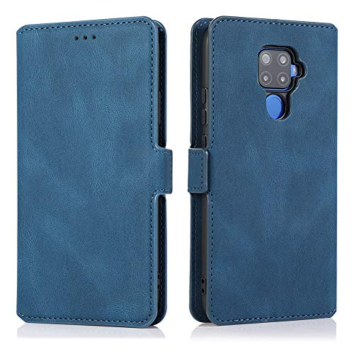 MOONCASE Huawei Mate 30 Lite Case, Flip Leather Magnetic Wallet Phone Case With Card Slot Pocket and Foldable Stand Protective Cover Case for Huawei Mate 30 Lite/Nova 5Z/Nova 5i Pro 6.26' -Blue