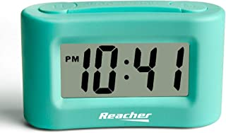 REACHER Mini Battery Operated Alarm Clock - Simple Basic Operation, Snooze, Backlight, Display ON/Off, Perfect for Travel,...