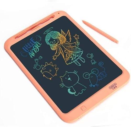 Planche à dessin LCD, Petit tableau d'affichage électronique lumière Energy, tableau d'écriture, tableau de graffiti, couleur du tableau d'écriture domestique non magnétique, bleu, Orange (couleur  oran