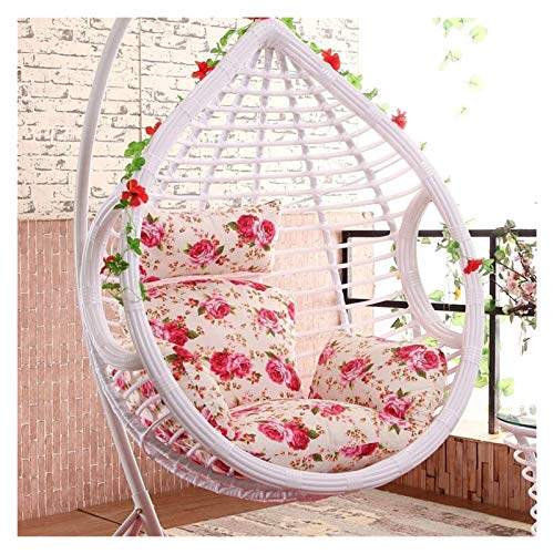 HLZY Outdoor Cushions for Patio Chairs Hanging Egg Chair Pads, Swing Chair Cushionthick Nest Without Chair Single Basket Hanging Egg Hammock Chair Cushions Deck Chair Cushions (Color : G)