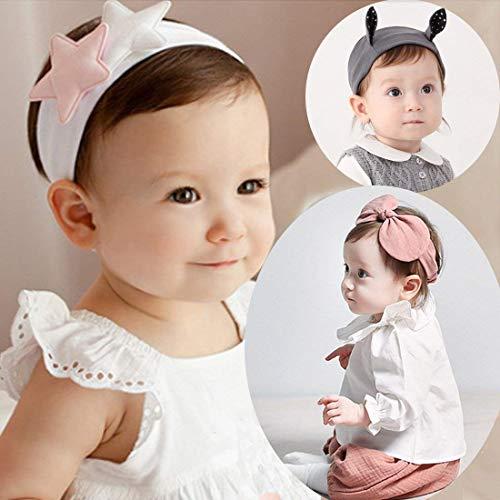 YISYO ベビーヘアバンド ヘアリボン ヘアカチューシャ ヘアアクセサリー 髪飾り 新生児 赤ちゃん