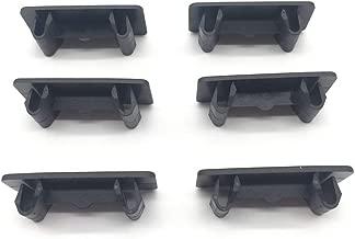 6 Pcs Rocker Switch Panel Cover Hole Cover for Empty Slot Black Plastic