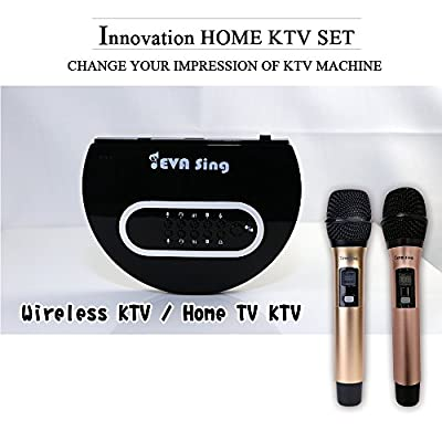 ?EVASing?Home KTV Singing Machine Wireless Karaoke Portable Microphone for Apple iPhone Android PC and Smartphone