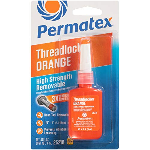 Permatex 25210 High Strength Removable Orange ThreadLocker