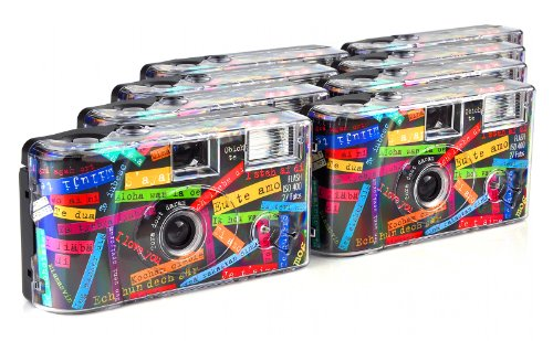 TopShot I mog di Einwegkamera (27 Fotos, Blitz, 8-er Pack) schwarz