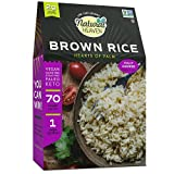Natural Heaven Low Carb Rice |Hearts of Palm Brown Rice | 4g of Carbs, Keto, Paleo, Vegan, Plant Based (9 Ounces - 1 Count)