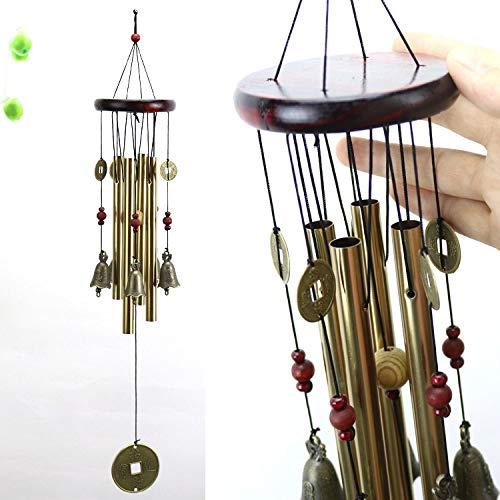 YL-adorn Art windspel metaal tuin en indoor mini wind chime met natuurlijke ontspannende tinten geld en klokken vintage stijl ideaal voor decoratie geschenken