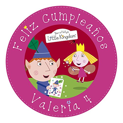 OBLEA de Papel de azúcar Personalizada, 19 cm, diseño de El pequeño Reino de Ben y Holly